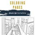 Paris Coloring Pages Free Printable
