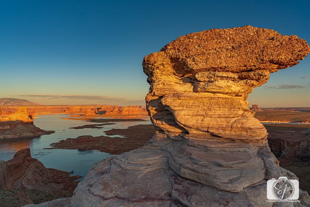 Sunrise from Alstrom Point Above Lake Powell Utah USA