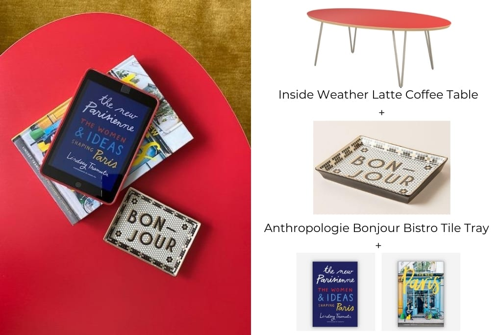 Inside Weather Latte Coffee Table with Lindseys Books
