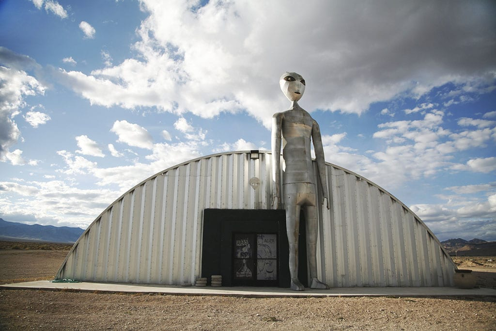 Stop along the Extraterrestrial Highway Area 51 State Route 375 Nevada USA