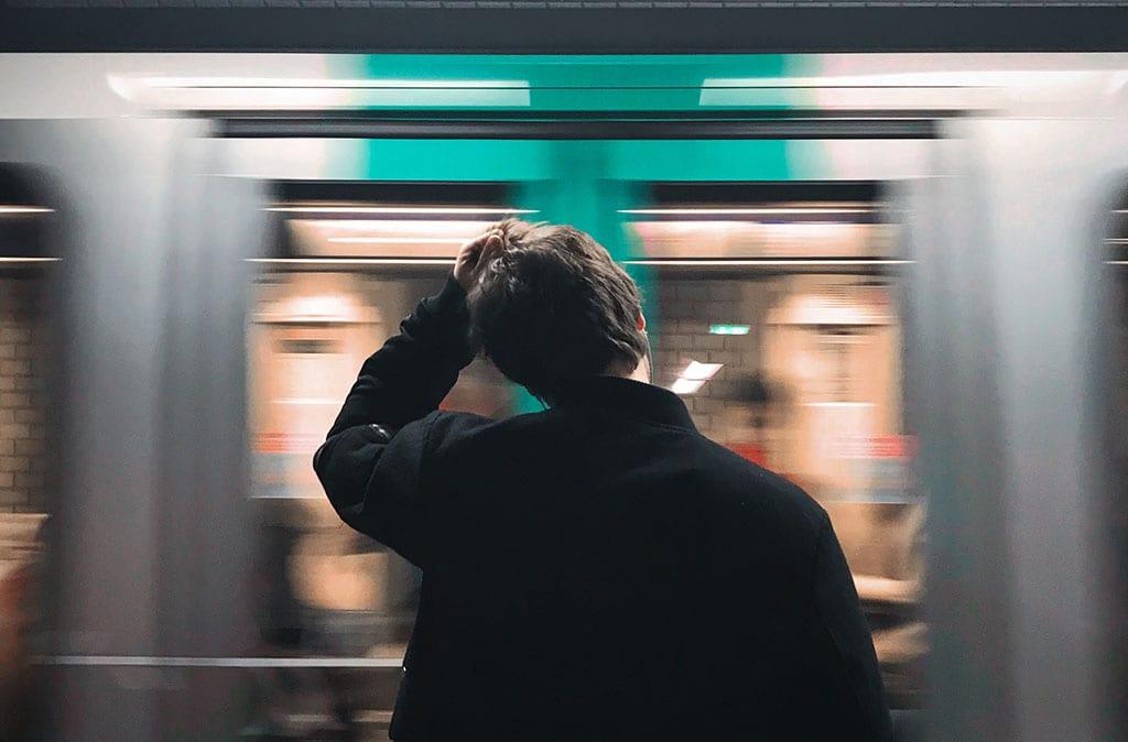 Waiting for the Paris Metro