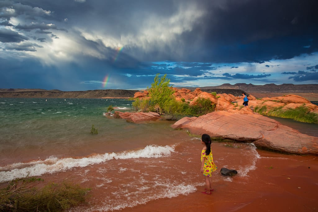 Things to do while Staying near Zion National Park: Sand Hollow State Park Utah USA