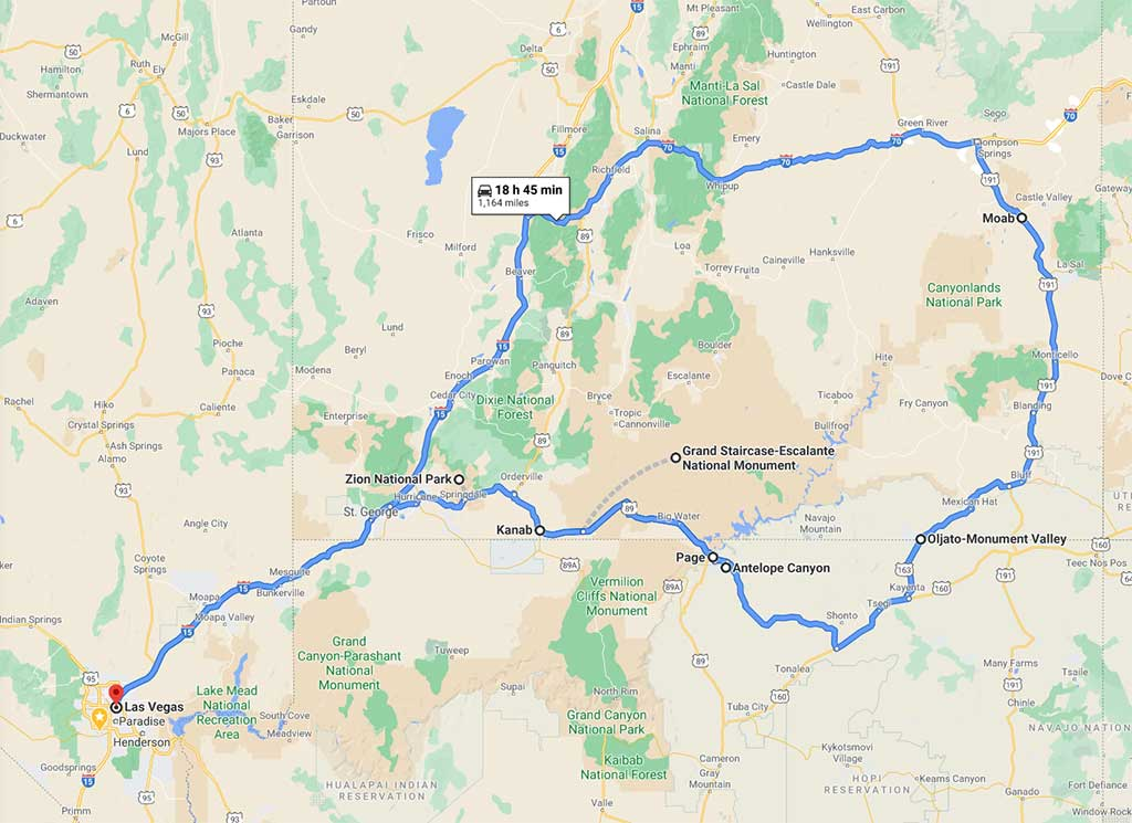 Map-of-10-Day-Southwest-Road-Trip