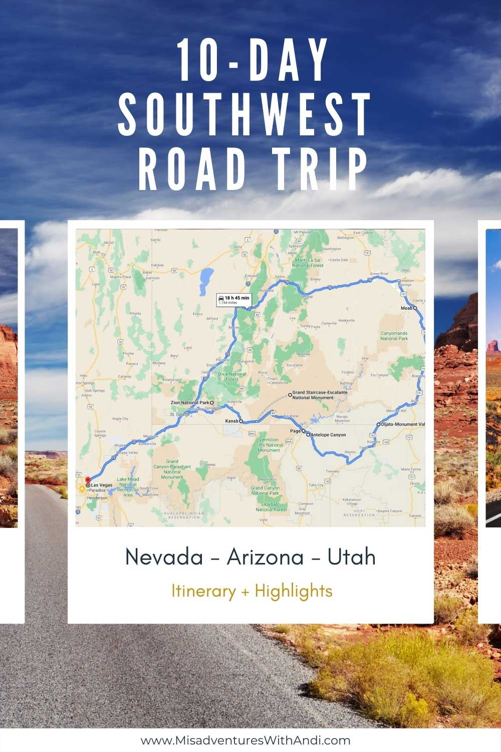 Southwest Road Trip Itinerary - 10 days in and out of Las Vegas