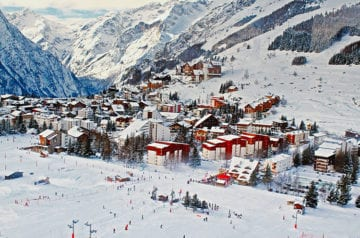French Ski Resort in the Winter