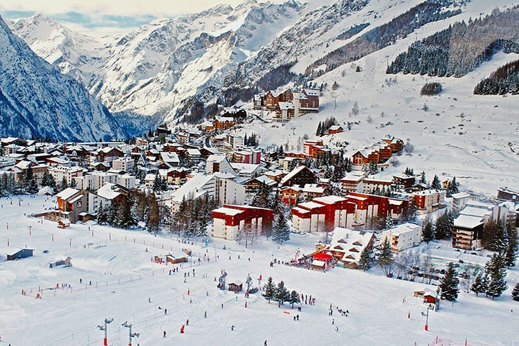 French Ski Resort in the Winter