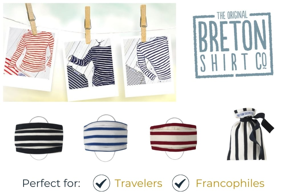 Gifts for Travelers and Francophiles - Breton Shirt Co Masks