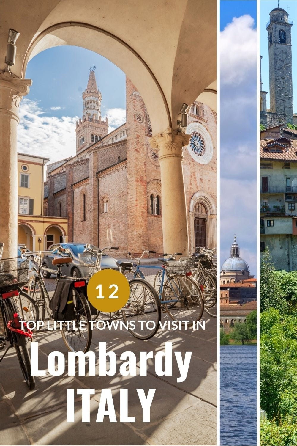 collage of towns in Lombardy Italy