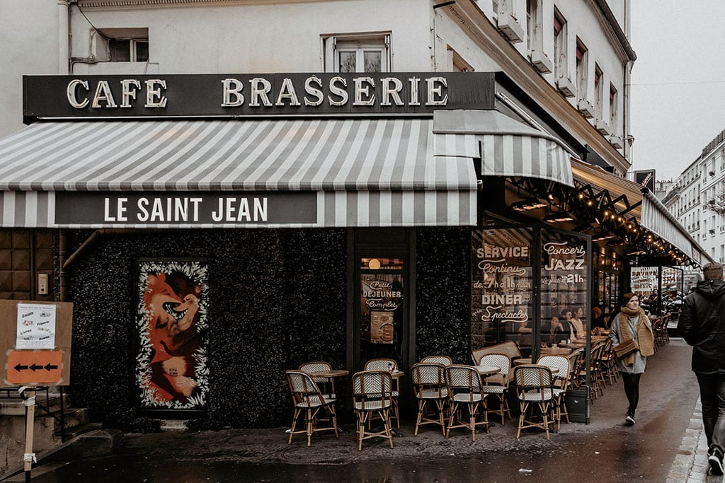 Paris Cafe in Winter