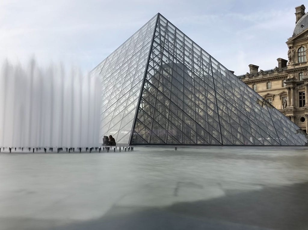 The Louvre in January