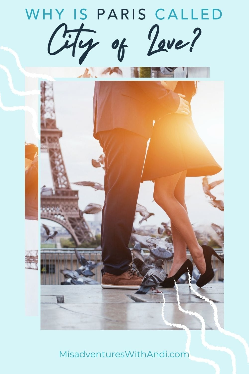 photo of romantic couples legs by the eiffel tower