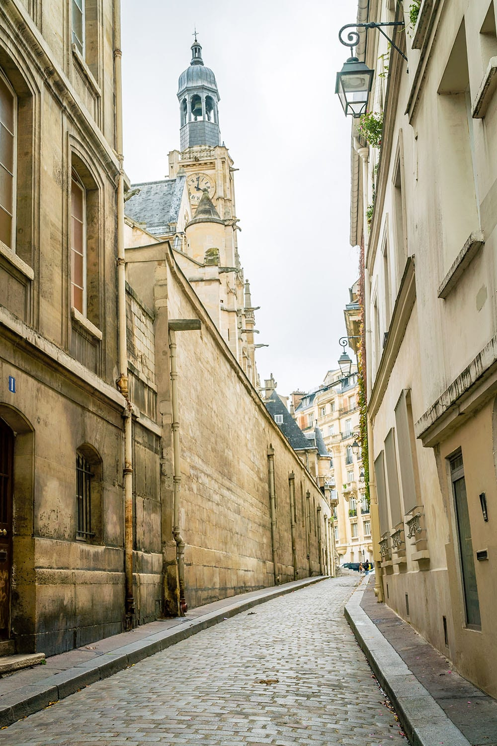 Cobbled street in the 5th arrondissement