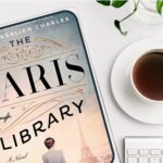 The Paris Library on Kindle with cup of coffee