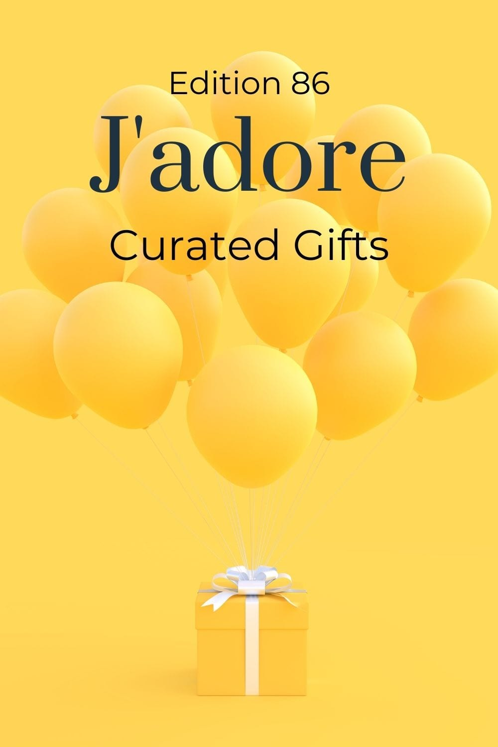 yellow present and yellow balloons