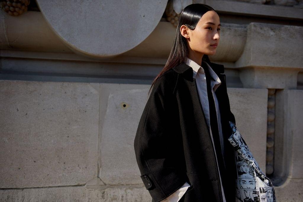 model posing in paris