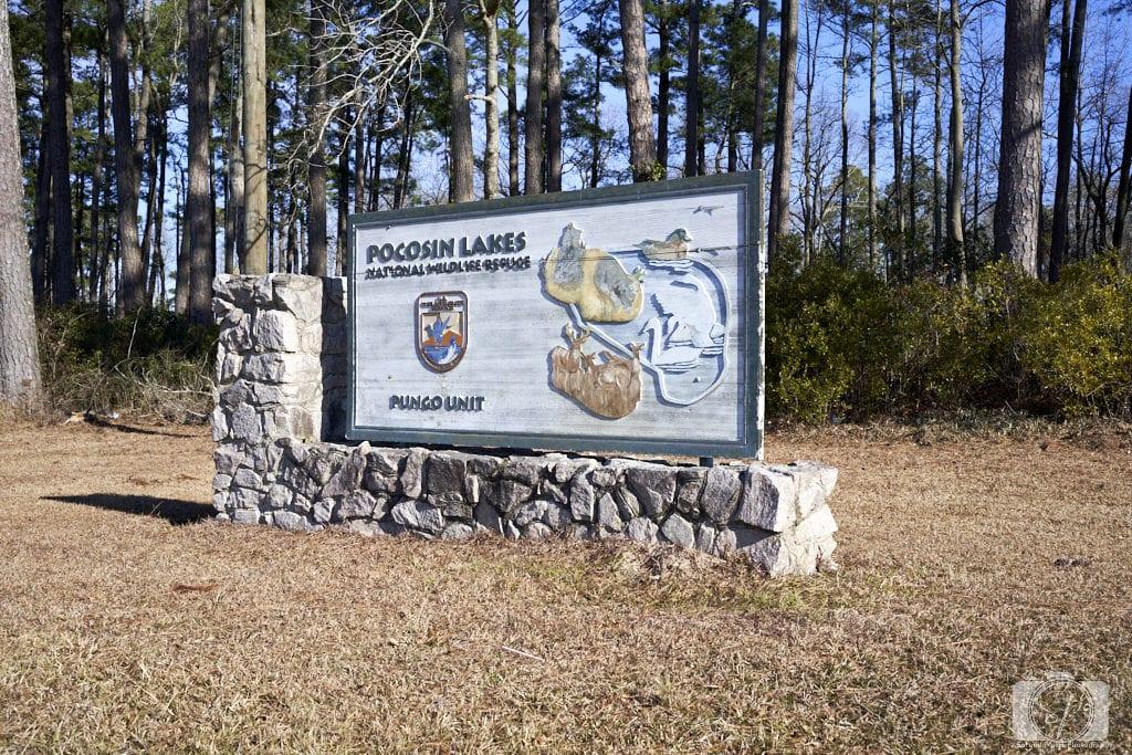 Pungo Unit of Pocosin Lakes National Wildlife Refuge Sign