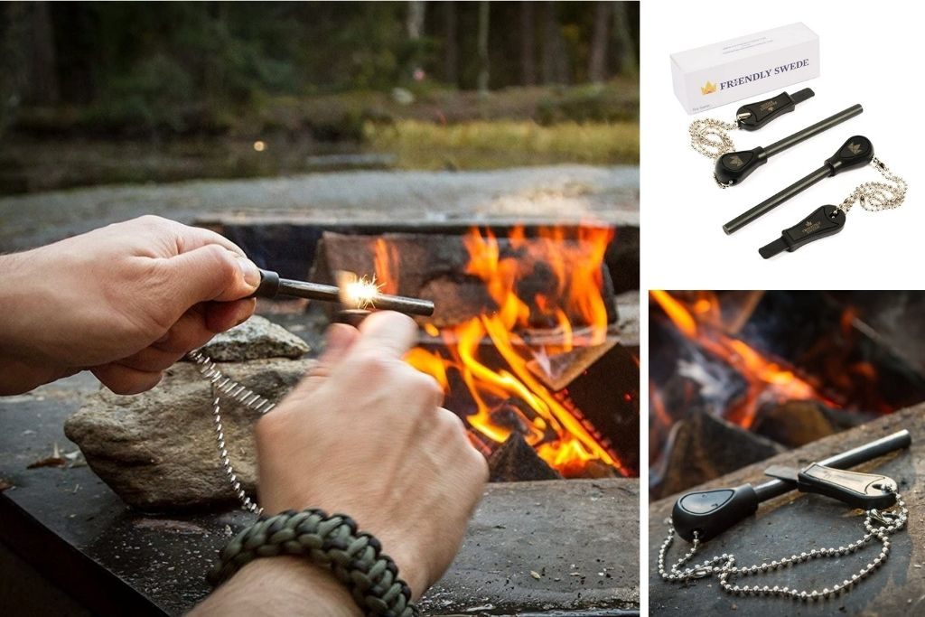 The Friendly Swede Magnesium Alloy Emergency Easy Grip Fire Starter