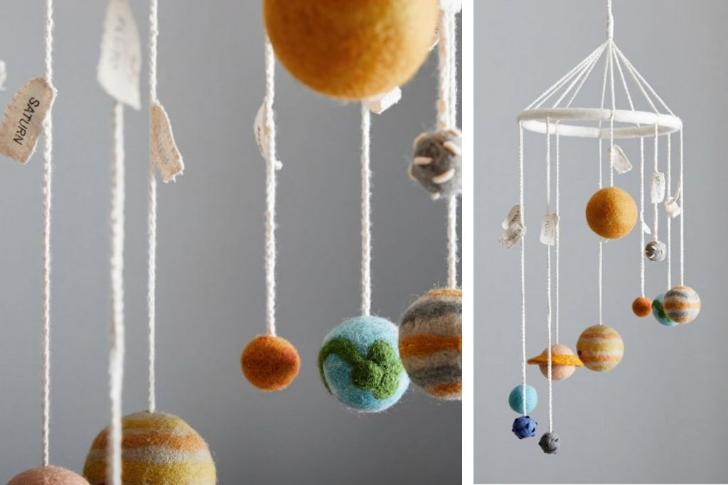 Wool Planet Mobile from West Elm