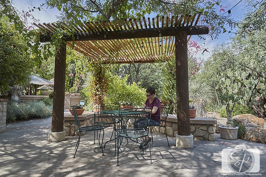 Andi in the Botanical Garden in Tucson