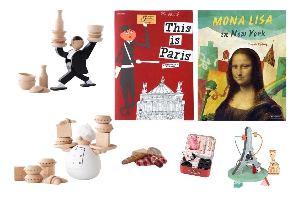 collage of toys and books for kids