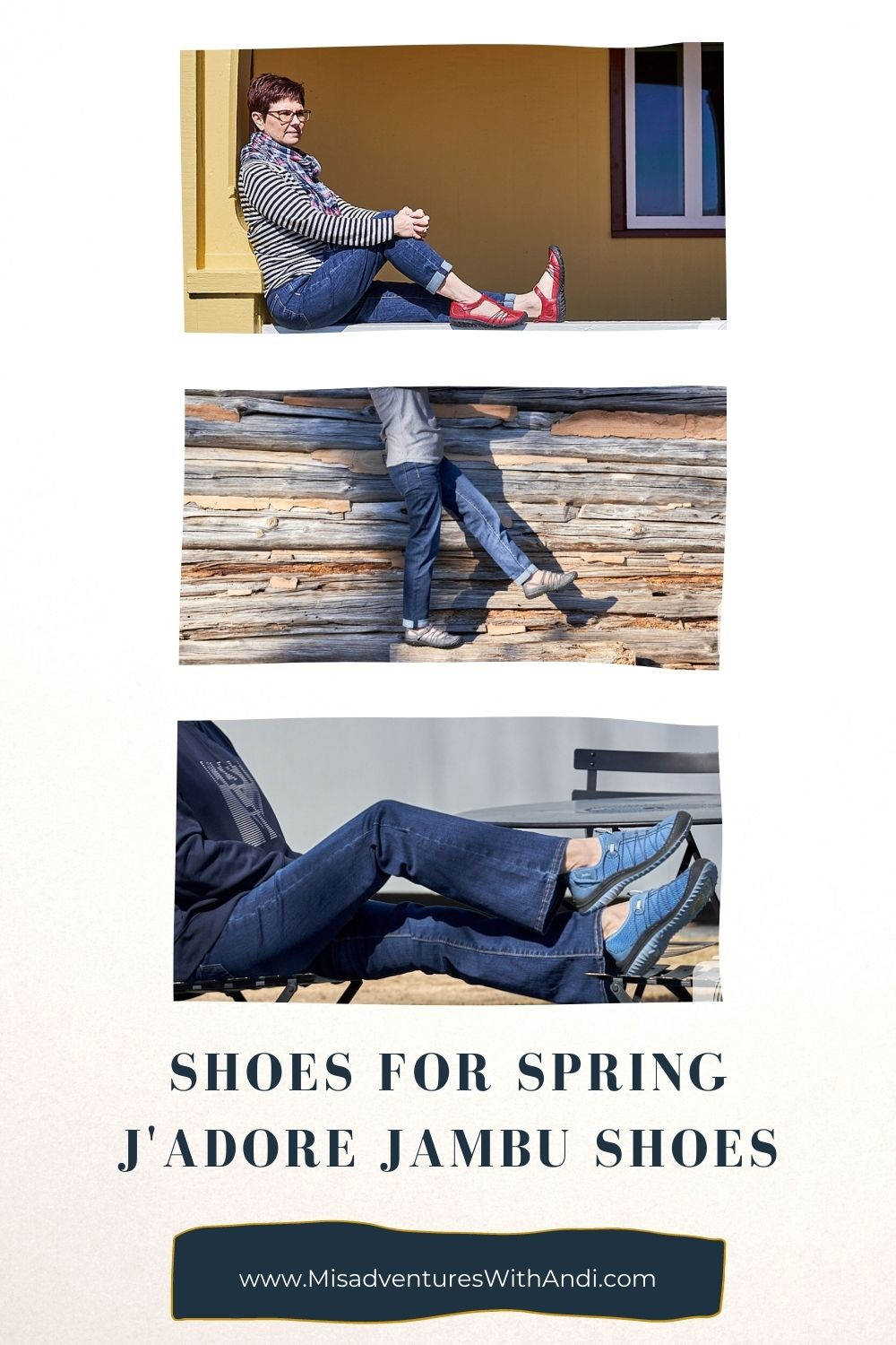collage of spring shoes