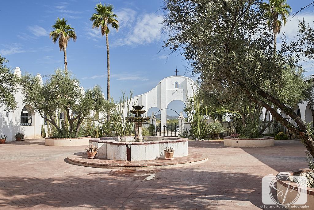 Mission San Xavier del Bac Courtyard in Tucson