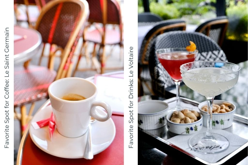 collage of coffee and cocktails