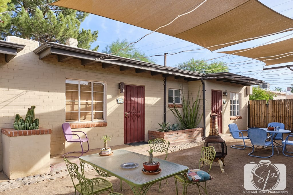 Patio Area The Downtown Clifton Hotel Tucson Arizona