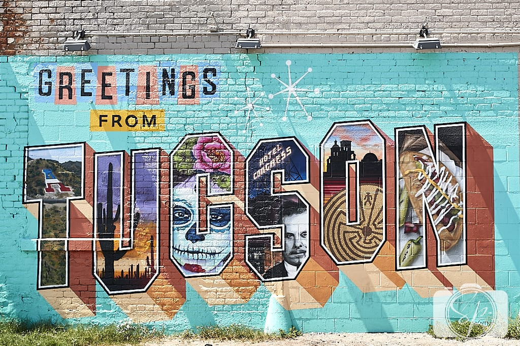 Tucson Greetings Mural by Rock Martinez and Victor Ving
