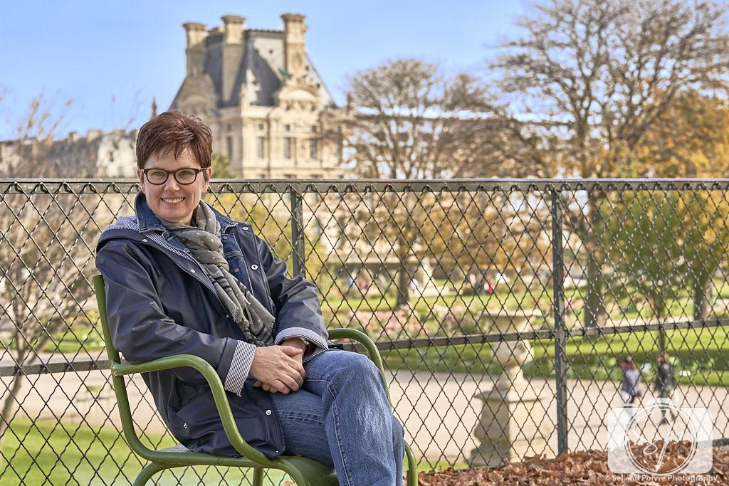Andi in Paris Park Chairs in Tuileries Garden