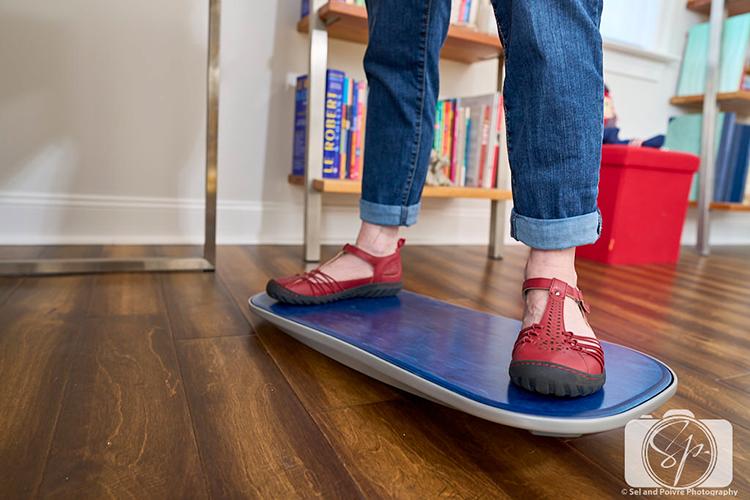 feet standing on Balance Board