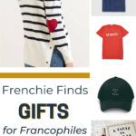 collage of French inspired mothers day gifts