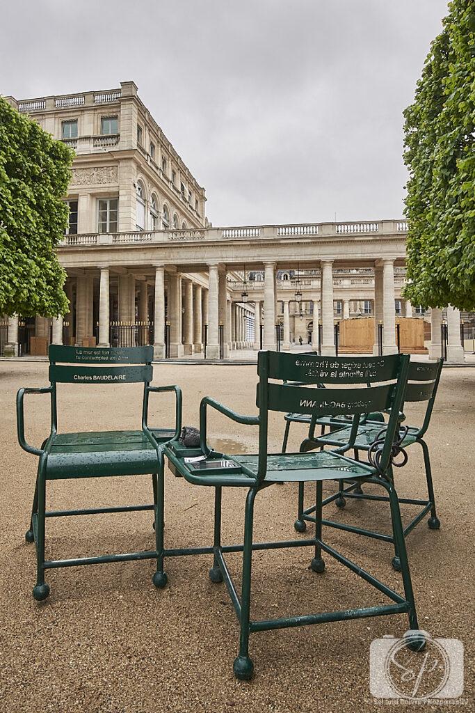 Paris Park Chairs in Palais Royal