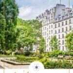 paris gardens with building