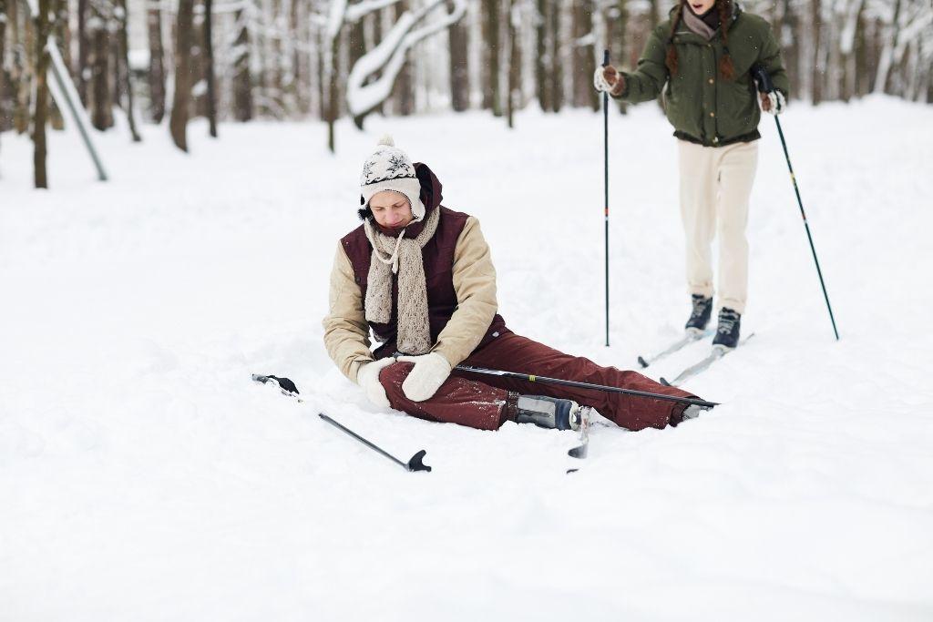 Injured skier on the ground