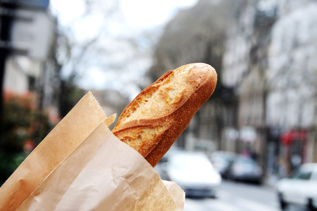 baguette in a bag