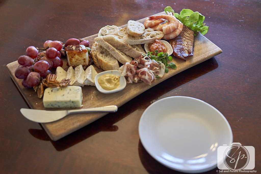 Charcuterie plate at the Inn on Turner in Beaufort North Carolina