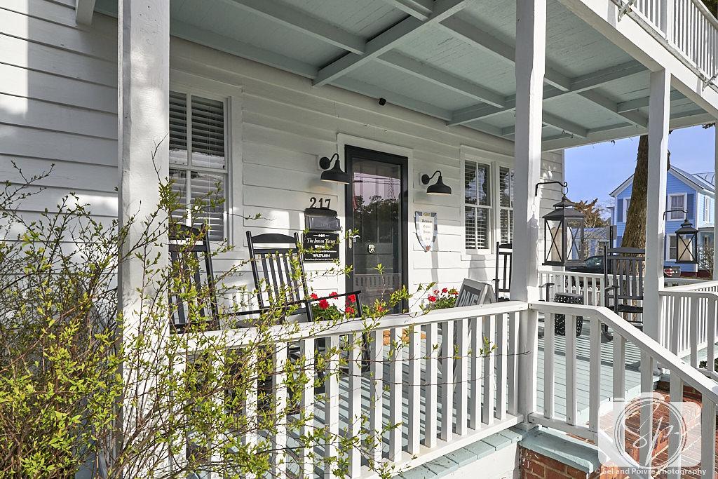 Front Porch of Inn on Turner in Beaufort North Carolina