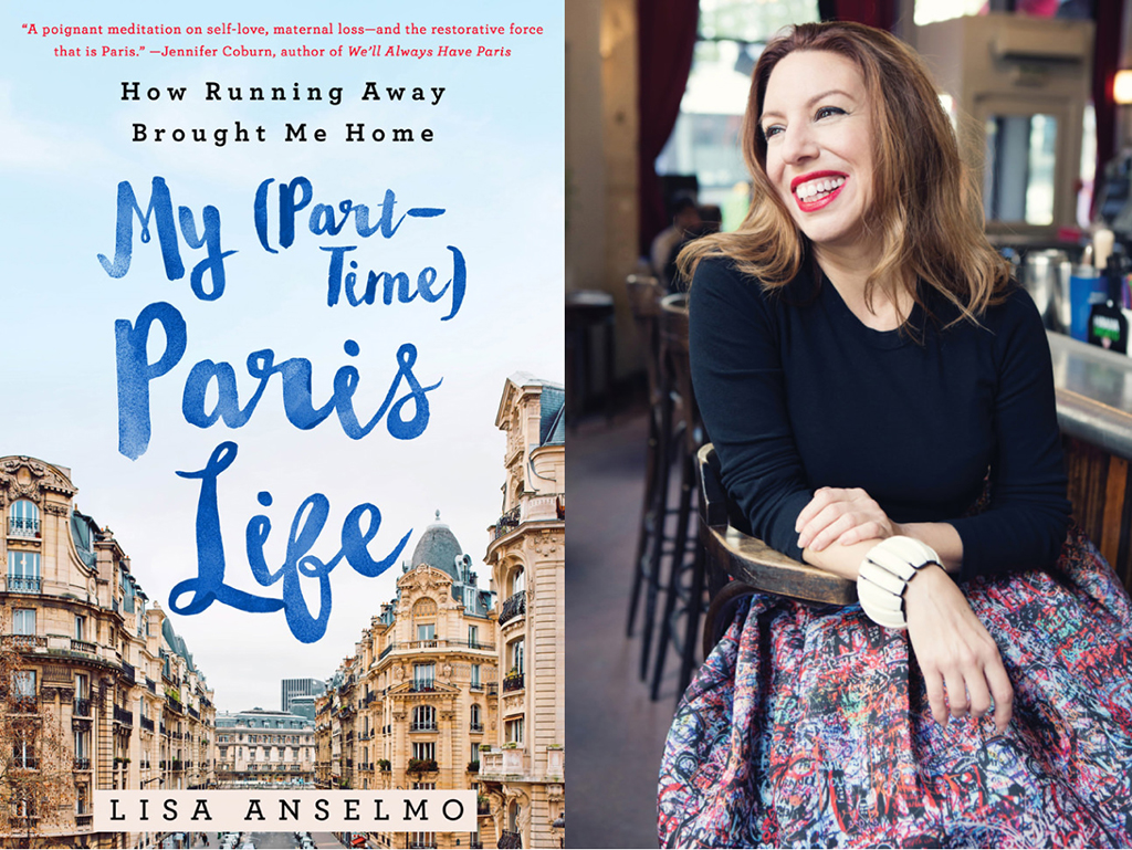 Lisa Anselmo and her book My Part Time Paris