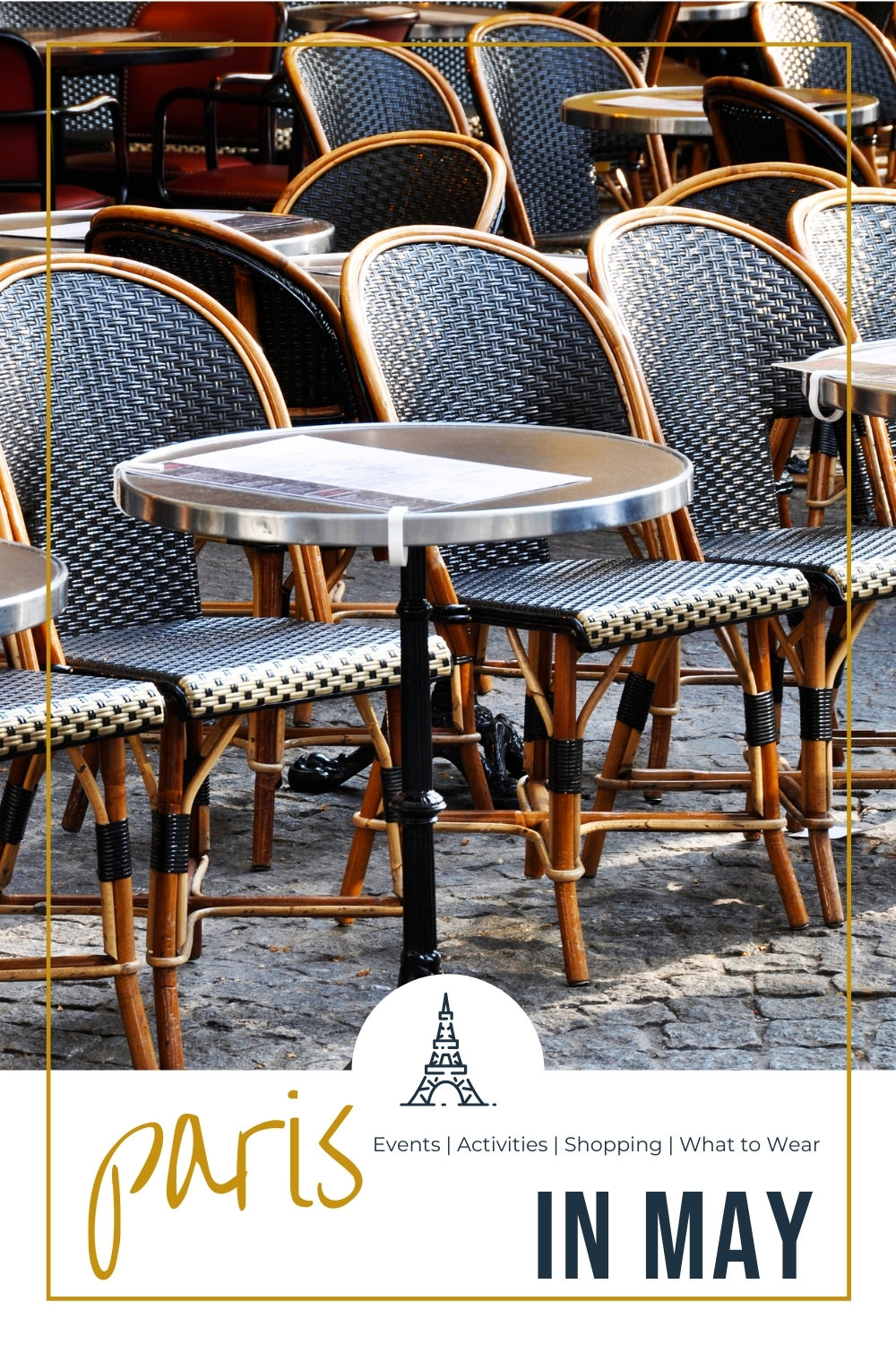 terrace chairs and tables in paris
