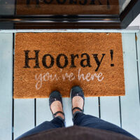 Welcome mat at the Inn on Turner in Beaufort North Carolina