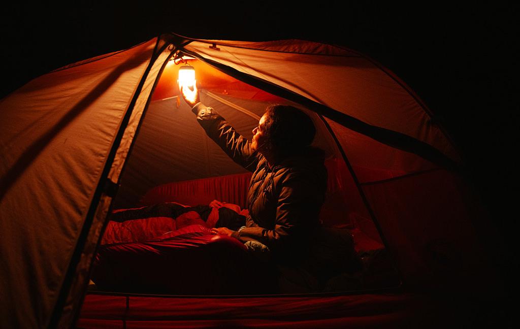 AlpenGlow 500 lantern for camping