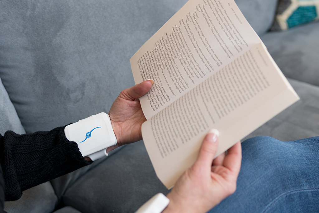 Cooling Cuffs While Reading a book