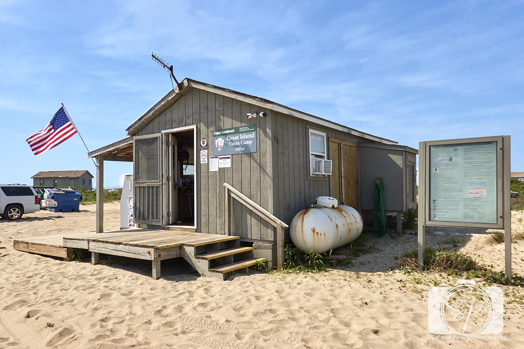 Great Island Cabin Camp Office on Cape Lookout National Seashore