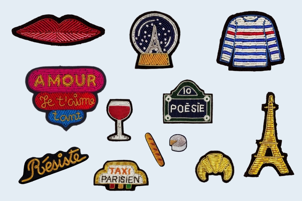 Macon et Lesquoy Embroidered Brooches