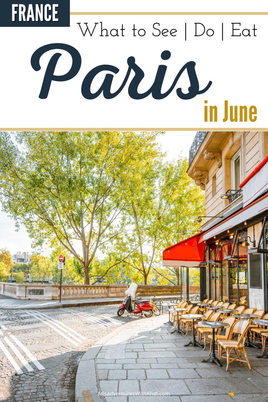 Terrace in Paris in Summer