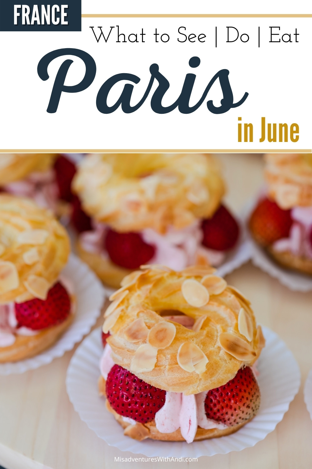 strawberry pastry in Paris