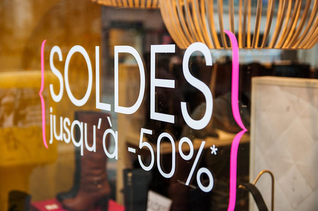 Sale Sign in Paris