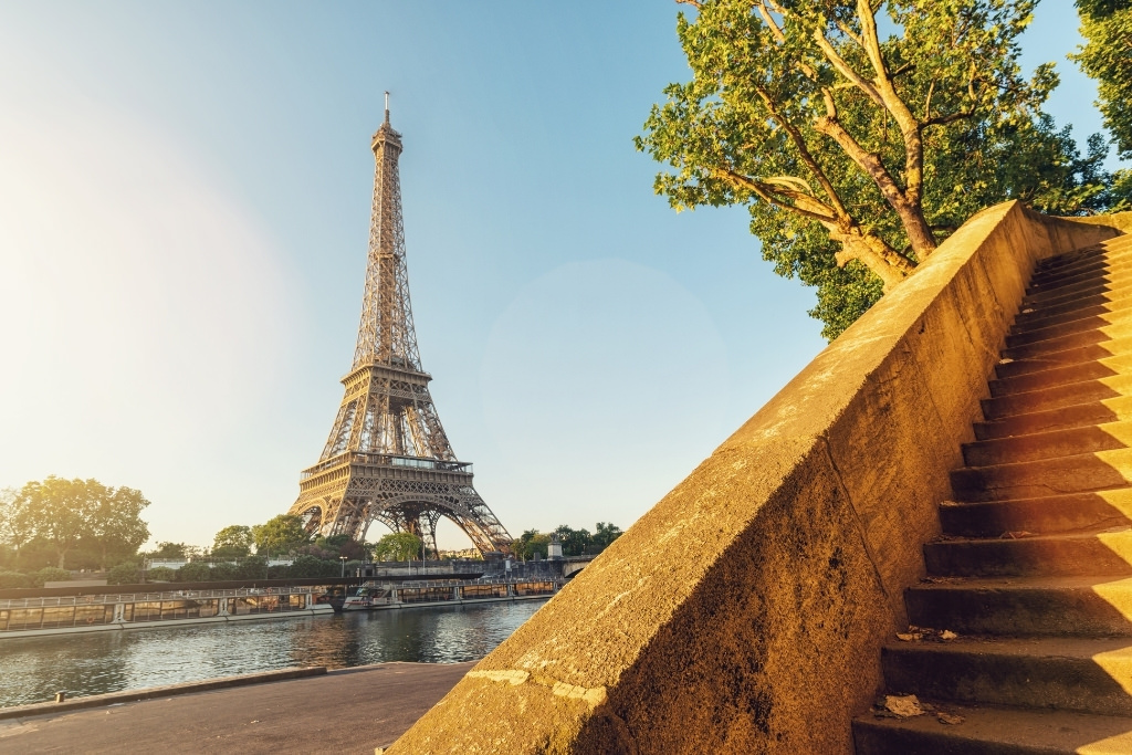 the Eiffel Tower from the Seine