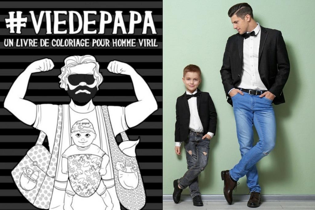 Vie de papa Coloring Book